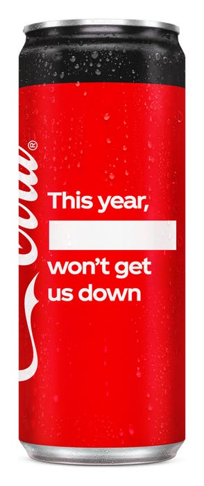 This year, ____ won't get us down - Coca-Cola Zero Sugar