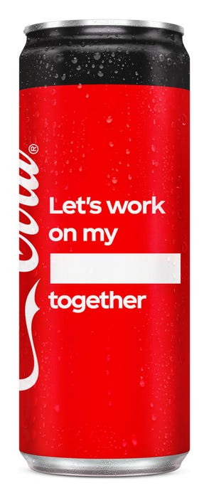 Let's work on my ____ together - Coca-Cola Zero Sugar